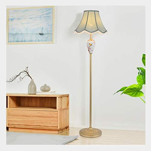 Staande lamp vloerlamp eenvoudige woonkamer studie slaapkamer verticale decoratieve keramische bedlamp LED (kleur: 40 cm breed en 150 cm hoog)