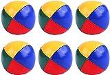 VICSPORT 6 bolas de malabares para principiantes, bolas de malabarismo coloridas y duraderas suaves y fáciles de usar