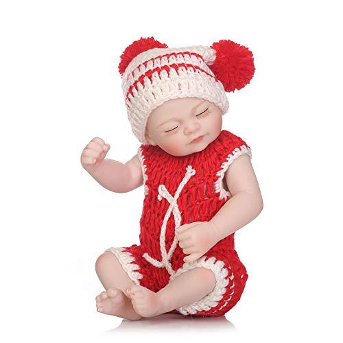 Muñeca Renacida De Silicona De 27 Cm Chica Realista Y Animada Cierra Los Ojos Juguetes para Bebés Hechos A Mano Suaves Y Realistas Adecuados para Niños Juguetes De Baño,27cm