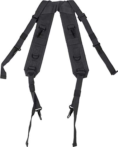 ARMYU Black Combat H Style LC-1 Military Suspenders Load Bearing Harness Backpack Straps