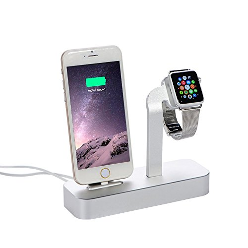 Kinbashi(TM) Charging / Sync Stand Dock Station For Apple Watch and iPhone (add 2pcs 5 Feet Lightnin - http://coolthings.us