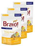 Bravo! Treats for Dogs Freeze Dried Chicken Breast - All Natural - Grain Free - 3 oz. 3 Pack