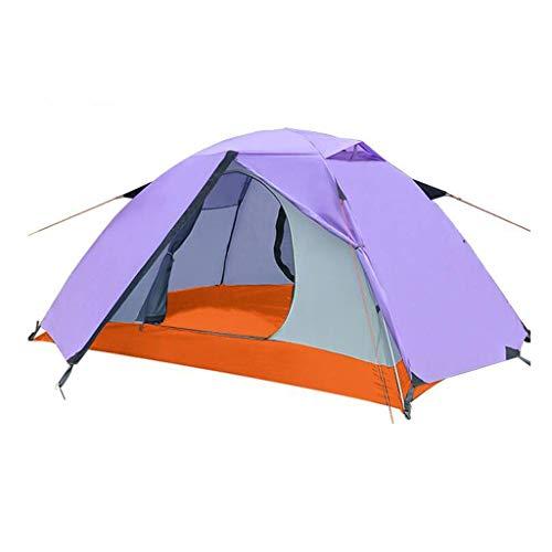 LIBOYUJU Anti-Riot-Camping-Zelt, professionelle Outdoor-Doppelzelt großen Raum Verdickung Vier Jahreszeiten zur Verfügung Feldaktivitäten Ausrüstung,Lila