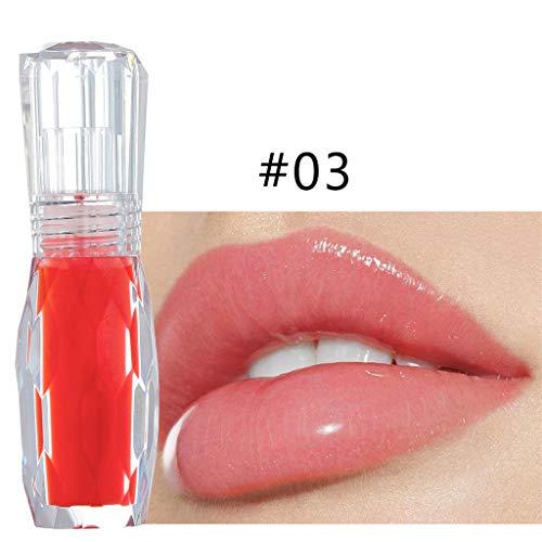 Lip Plumer, Lip Gloss Transparent Makeup Feuchtigkeitsspendender Lipgloss Flüssig Lippenstift Matt,...
