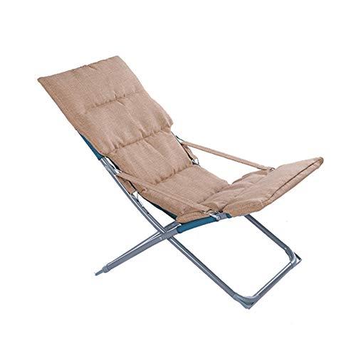 VIVOCC Armature en Acier Chaise Lounge Chaise, Pliant Réglable en 3 Positions Chaise Chaise Longue avec Coussin Amovible pour Camp Piscine Plage-A 110x60x83cm(43x24x33inch)