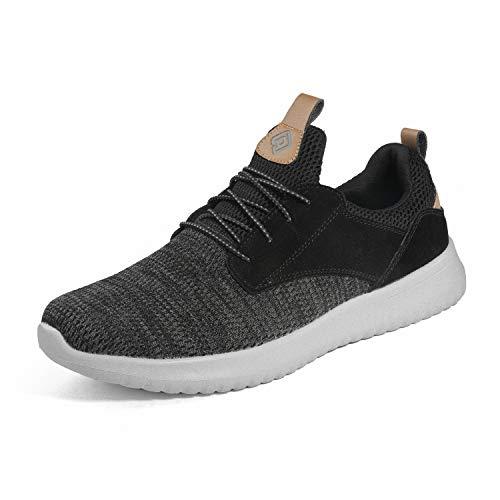 Bruno Marc Men's Slip On Walking Shoes Sneakers Walk-Work-01 Black Grey Size 12 M US