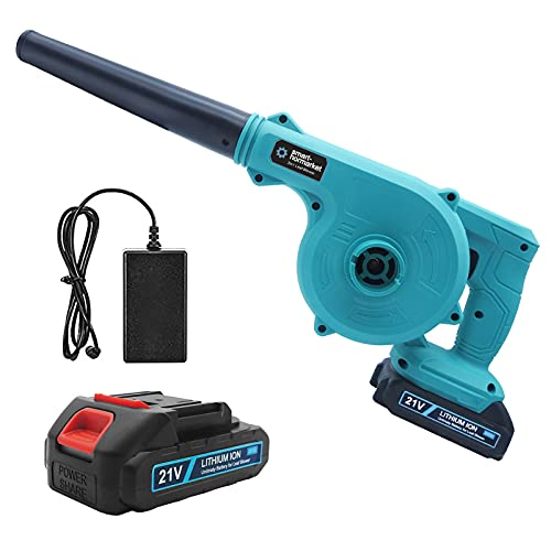 DIWANGUS Cordless Leaf Blower, 2-in-1 Handheld Cordless Lightweight Sweeper Portable Vacuum Cleaner with 20V 2.0 Ah Lithium Battery for Blowing Leaves Cleaning Dust Corner Garbage
