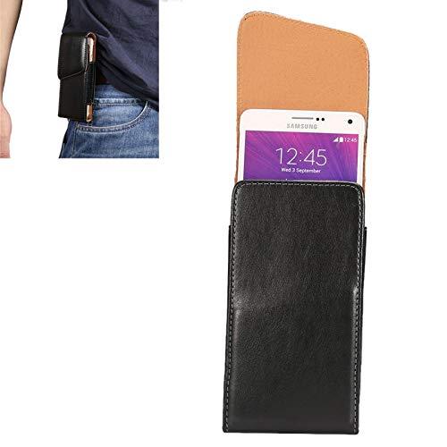BANAZ Caja del teléfono Cubierta de Piel de Cordero Universal de la Piel de la Piel de Cordero/Bolsa de Cintura con férula de la Espalda giratoria for el iPhone 6 Plus y 6S Plus, Galaxy Note 8 / GAL