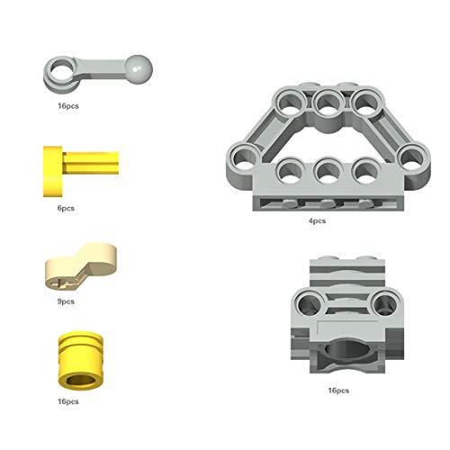 Bulokeliner 67 piezas DIY Educational Parts motor de cigüeñal, para marcas de construcción estándar compatible con Lego