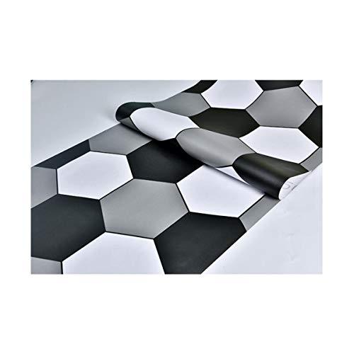 sknonr Schwarz-Weiß-Fliesenaufkleber, Selbstklebende Wandaufkleber für Cafés, wasserdichte Tapete, Bodenaufkleber, 500x60cm (Color : B)