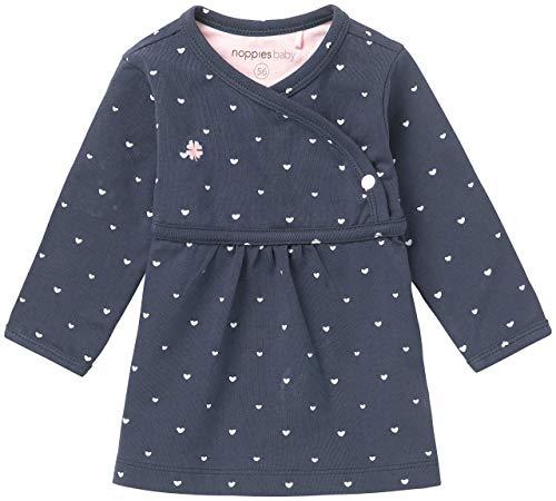 Noppies G Dress LS Nevada-67364 Vestido, Azul (Navy C166), Bebé Prematuro (Talla del Fabricante: 44 cm) para Bebés
