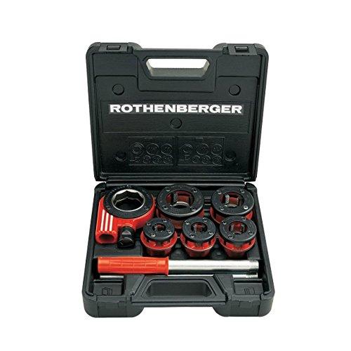Rothenberger Ratschen Gewindeschneidkluppen Super Cut Set, Durchmesser 3/8 - 1,1/4 Zoll, 1 Stück, 070790X