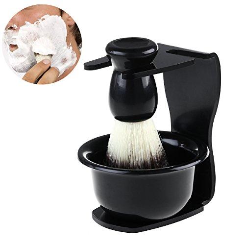 Rosenice kit de rasage pour homme rasage Brosse Ensemble de support et Mug de rasage pour père de jour Cadeau