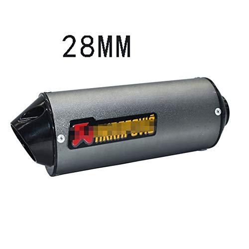 28 mm 32 mm 38 mm 51 mm de Escape de la Motocicleta silenciador del Tubo por un 125cc 150cc 160cc Suciedad Bici del hoyo (Color : Titanium 28mm)