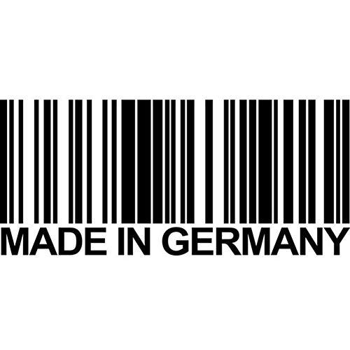 15.6 x 6.8cm GEMAAKT IN DUITSLAND barcode coole vinyl sticker auto sticker accessoires - zwart