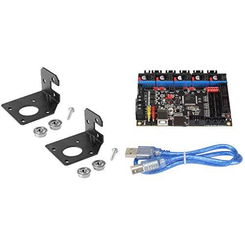 SODIAL 3 Pcs 3D Printing Accessories: 2 Set CR-10 Y Motor Plate Set Motor Fixing Bracket & 1 Set SKR V1.3 32-Bit DIY Controller