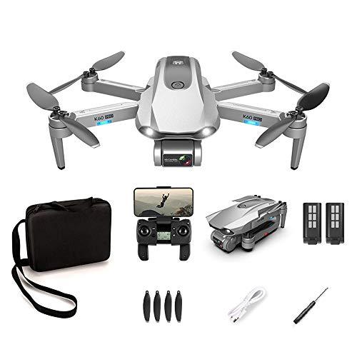 Dron GPS plegable con cámara de 6 K, transmisión en vivo Full HD, 30 minutos de tiempo de vuelo, 5G WiFi FPV, adecuado para principiantes y profesionales (versión eléctrica doble)