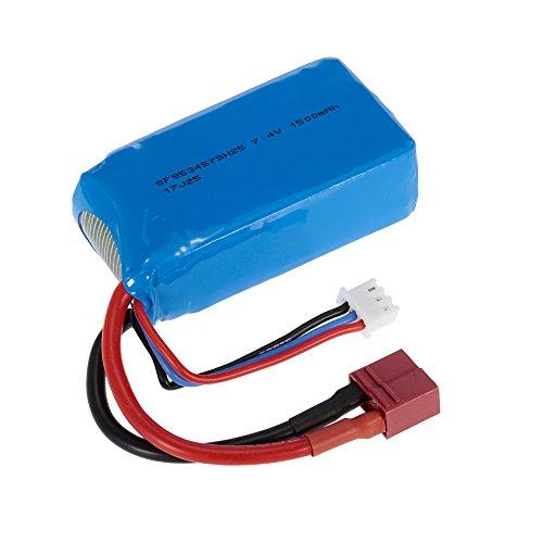 Goolsky Batería Recargable de 7.4V 1500mAh LiPo para WLtoys A959-B A979-B 144001 RC Buggy Coche