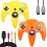 ZeroStory Classic N64 Controller, Wired N64 Controller Joystick with 5.9 Ft N64 AV Cable for N64 Video Game Console (Yellow and Orange)