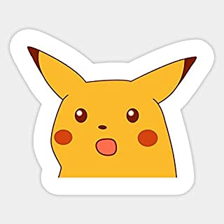 Surprised Pikachu Meme Vinyl Sticker