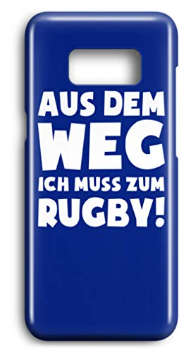 shirt-o-magic Handyhülle Rugbyspieler: Muss zum Rugby! - Case -Samsung S7-Royal Blau