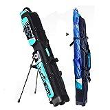 Amrt Tasche für Angelrute, tragbar, hohe Kapazität, Angelrute, blau, 125X18X16CM