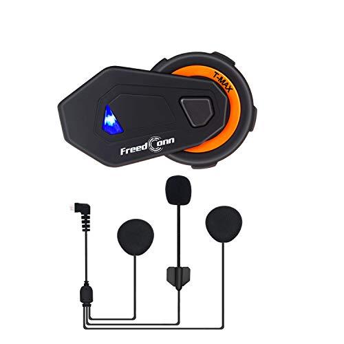 Sistema de comunicación para Motocicleta Casco Bluetooth Interphone 1000M FreedConn T-MAX para 6 pasajeros Intercomunicador grupal