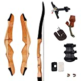 SinoArt 70' Takedown Recurve Bow Adult Archery Competition Athletic Bow Weights 14-40 LB Right Handed Archery Kit for Outdoor Training Hunting Shooting (Right Hand 20 LBs)