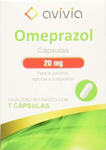Omeoprazol Antiacidos Antiflatulentos Car, Caja con un frasco con 7 cápsulas