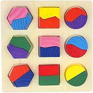 DXXLD Aprendizagem educação brinquedos de Madeira quebra-cabeça das crianças 3D cubo mágico brinquedos educativos das cria...