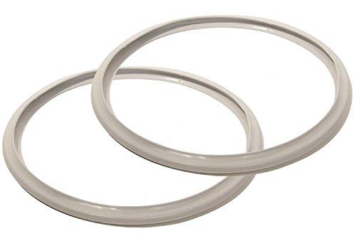 Kimmyer Joint de Remplacement de l'autocuiseur-2 PCS de Joints en Silicone pour Les cuisinières à Pression-Accessoires sucrés et salés pour cuisinières Pression de 5L/6L-blanc