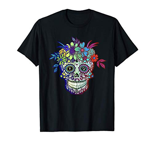 Sugar Skull Dia De Muertos Calavera Day Of The Dead Camiseta