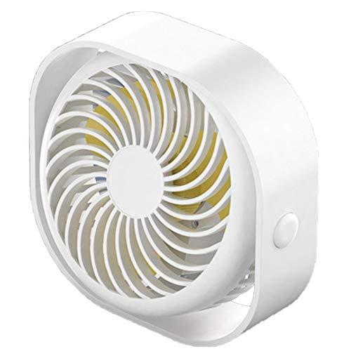 SJZERO Ventilador de Escritorio USB portátil 3 velocidades Mini Ventilador de refrigeración Ajustable Rotación de 360 Grados para Viajes de Oficina en el hogar del Coche