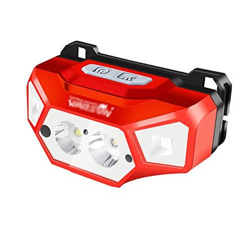 Nachtlampje voor het vissen met inductiescherm, ultralichte elektrische zaklamp met externe kop Rood