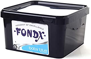 FONDX Rolled Fondant 5 lb - Vanilla Flavor, Baby Blue