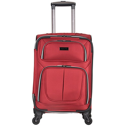 Kenneth Cole Reaction Lincoln Square 20' 1680d Polyester Expandable 4-Wheel Spinner Carry-on Luggage, Red
