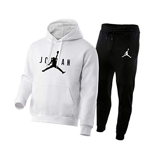 NBNB 2021 Jordan Mens Baloncesto Chándalsuits Set, Jordania New Basketball Sudaderas Sudaderas Sudaderas Pantalones Sportswear, Gimnasio Casual Deportes Correr Entrenamie 21-M