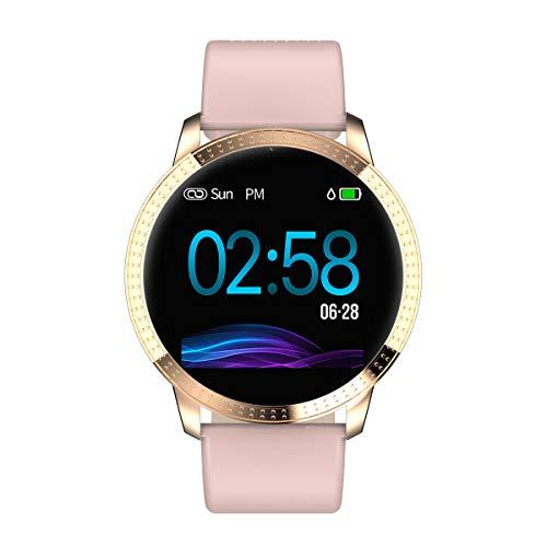 Leslaur CF18 Smart Watch 1,22 Zoll Bildschirm BT4.0 wasserdicht Schrittzähler Kalorien Alarm Pulsmesser Smart Armband für Android 4.4 / iOS 9.0 und höher
