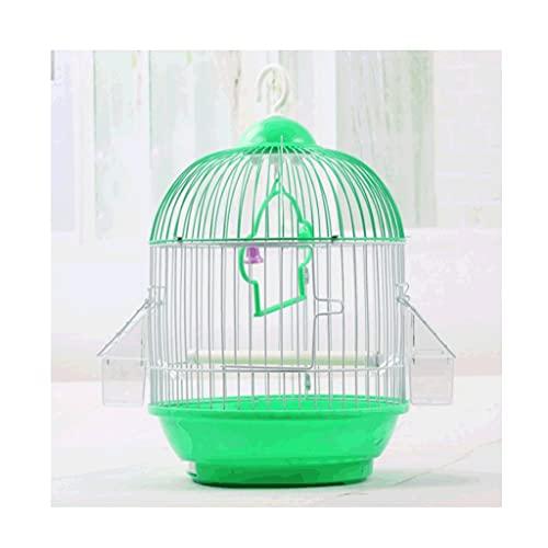 Gabbie per uccelli decorative Gabbia per uccelli di plastica con supporto di rotolamento, gabbia di volo per uccello da viaggio portatile con alimentatore per all' aperto leggero-blu- blu/ rosa/ verd