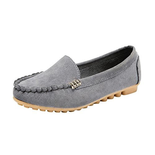 Gyoume Women Shoes Slip On Flat Shoes Sandals Casual Colorful Shoes Size (US:7.5, Gray)