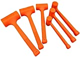 WXking 0,5-4lb Tote Blowhammer orange Weichgummi Unicast Hammer-2LB (Color : 3lb)
