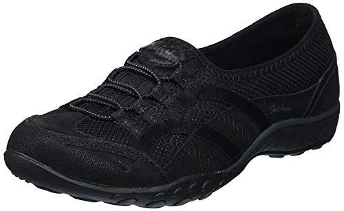 Skechers Breathe Easy-Well Versed W, Zapatillas sin Cordones para Mujer, Negro (Black), 36 EU