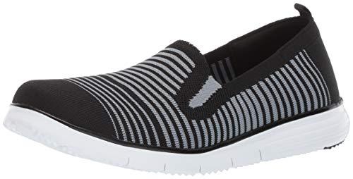 Propet Women's Travel Fit Slipon Sneaker, Black/Grey, 7.5 4E US