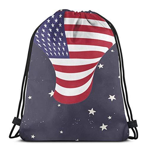 Bingyingne Stati Uniti Disegno con coulisse Zaino da palestra Sacca Cinch Borsa String Bag