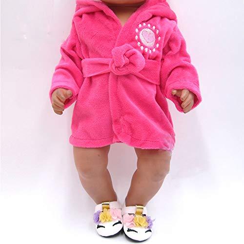 Angoter Die Kleidung für die 43 cm Baby Born Puppe eine Vielzahl von Pyjamas und Bademäntel Zufällige Stil