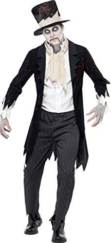 Smiffys Fancy Party Till Death do us Part Halloween Zombie Groom Kostüm komplett Kleid