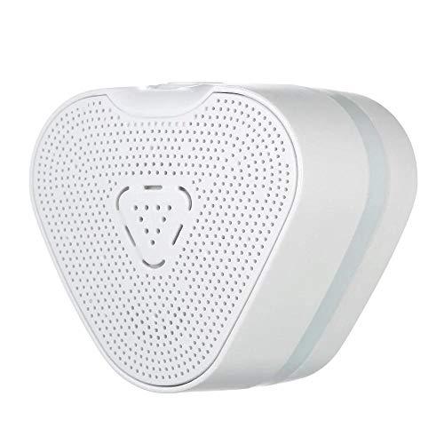 Mini Erdgasdetektor Brennbare Gasleckage Alarm Monitor Detektor Sniffer Methan LNG LPG. Erdgas- Verflüssigungsgaskohlegaskennung EU Stecker (Color : White)