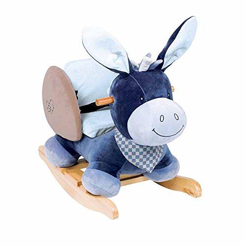 Nattou Dondolo per bambini Alex L'Asinello, 10-36 mesi, 62 x 32 x 52 cm, Blu, 321273