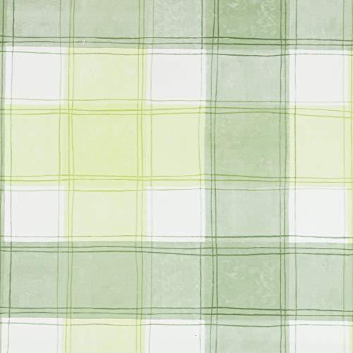 Jolee Fabrics Green Traditioneel Geruit PVC Vinyl Rond Tafelkleed 140cm (55