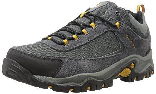 Columbia Men's GRANITE RIDGE WATERPROOF WIDE Hiking Shoe, Dark Grey, Golden Yellow, 10.5 2E US